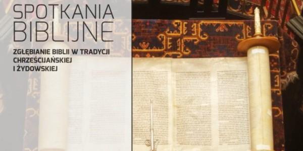 Plakat informujący o spotkaniach biblijnych w domu Sióstr Matki Bożej z Syjonu w Krakowie