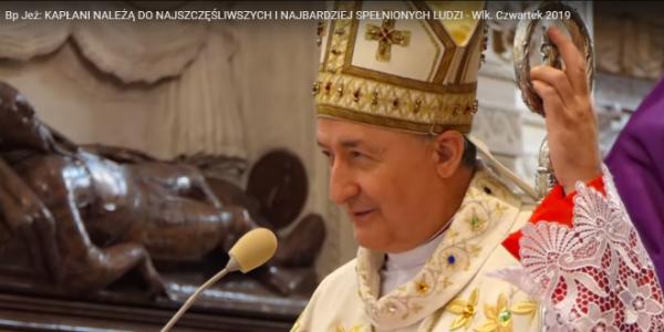 """List Klubu """"Przymierze"""" do bpa Andrzeja Jeża w sprawie wielkoczwartkowej homilii:"""