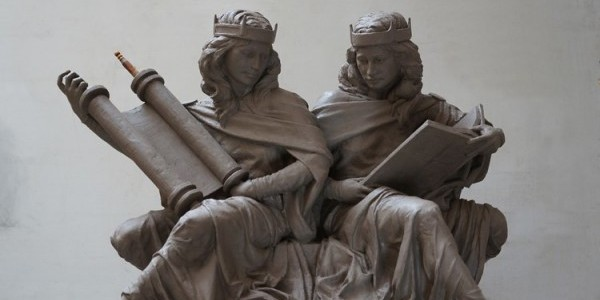 Synagoga and Ecclesia - Sculpture by Joshua Koffman