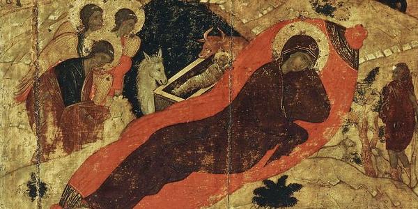 Andriej Rublow, Narodzenie Chrystusa, ikona XV w.