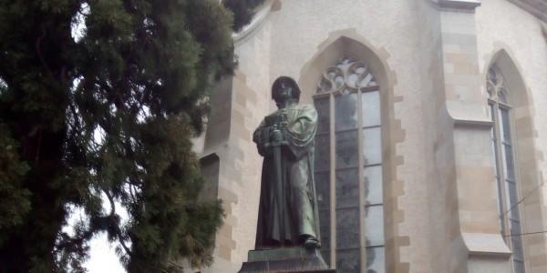 Pomnik Ulryka Zwingliego w Zurychu (fot. Michał Karski)