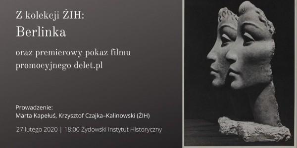 Spotkanie z cyklu Czwartki na Tłomackiem poprowadzą Marta Kapełuś oraz Krzysztof Czajka–Kalinowski z Żydowskiego Instytutu Historycznego. Plakat