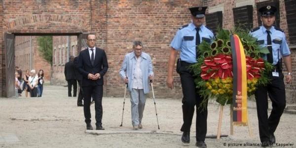 Auschwitz 2019: Marian Turski i szef niemieckiej dyplomacji Heiko Maas