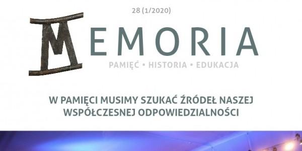 """Miesięcznik """"Memoria""""  nr. 28 - styczeń 2020"""