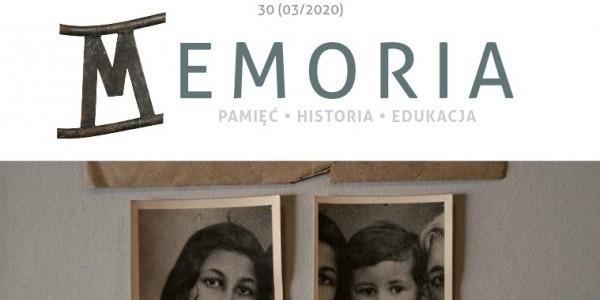 Memoria-magazine marzec 2020 - fragment strony tytułowej