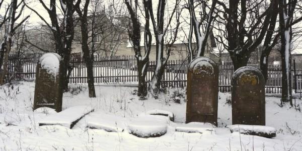 Rohatyn's new Jewish cemetery in winter. Photo © RJH.