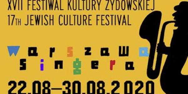 """XVII Festiwal Kultury Żydowskiej """"Warszawa Singera""""  - plakat"""