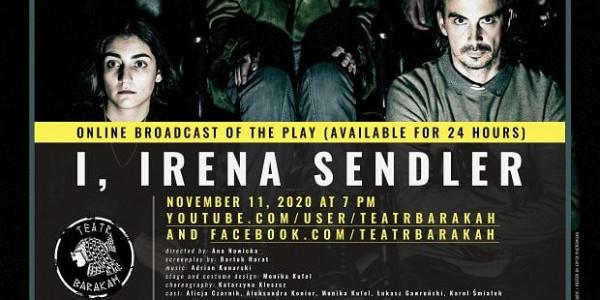 """Teatr Barakah  """"Ja, Sendlerowa"""". - plakat"""