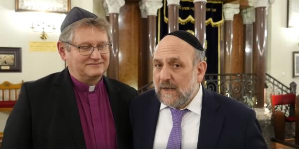 Naczelny Rabin Polski Michael Schudrich oraz Biskup Kościoła Ewangelicko-Augsburskiego w Polsce Jerzy Samiec