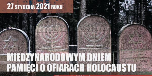 Hołd Żydom pomordowanym w Hałbowie w 1942 - fragment  plakatu