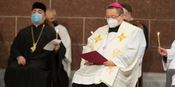 Abp Grzegorz Ryś podczas nabożeństwa ekumenicznego 24 stycznia 2021 r. w Łodzi. Fot. Archidiecezja Łódzka