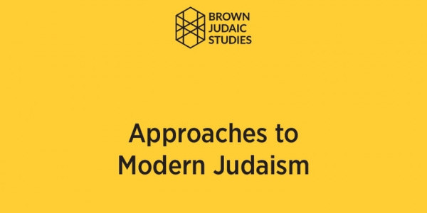Approaches to Modern Judaism