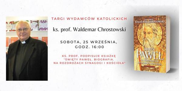 ks. prof. Waldemar Chrostowski na Targach Wydawców Katolickich
