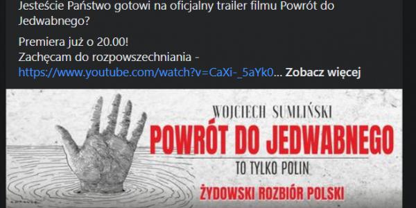 Powrót do Jedwabnego - fragment plakatu