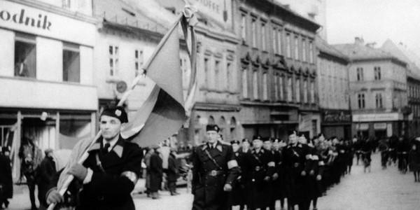 Maszerująca Gwardia Hlinki, 14 marca 1939, Bratysława.