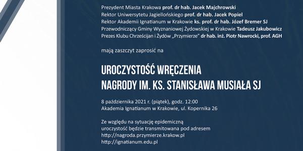 Nagroda im. ks. Stanisława Musiała - plakat