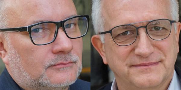 Ks. Andrzej Draguła i Zbigniew Nosowski. Fot. Więź