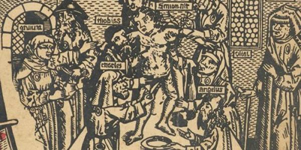 """Ilustracja z książki: Frederik to Gaste, """"Prawda o żydowskich mordach rytualnych"""", Warszawa 1943. Zbiory Biblioteki Narodowej / Polona.pl"""