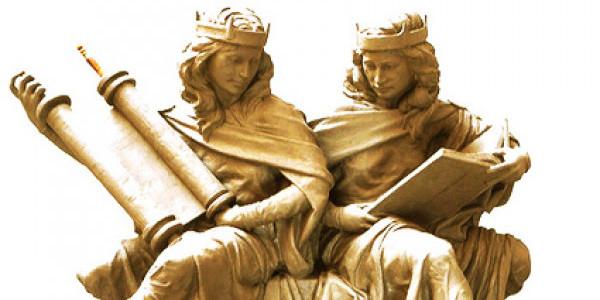 Synagoga and Ecclesia in Our Time by Joshua Koffman Saint Joseph's University Philadelphia, PA 2/3 life-size bronze