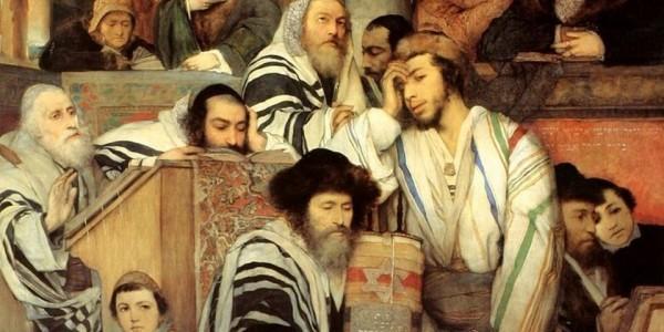 Maurycy Gottlieb, Żydzi modlący się podczas święta w synagodze (1878)