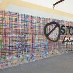 """Zdewastowany mural """"Utkany wielokulturowością"""""""